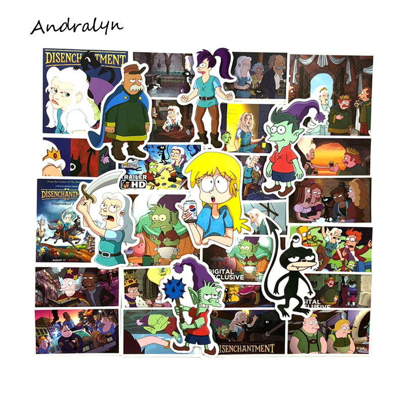 Stickers New 39 Pcs/pack Disenchantment Anime Stickers For Luggage Laptop Skateboard Motorcycle Phone Toys For Kid Bomb Sticker Mild And Mellow Toys & Hobbies
