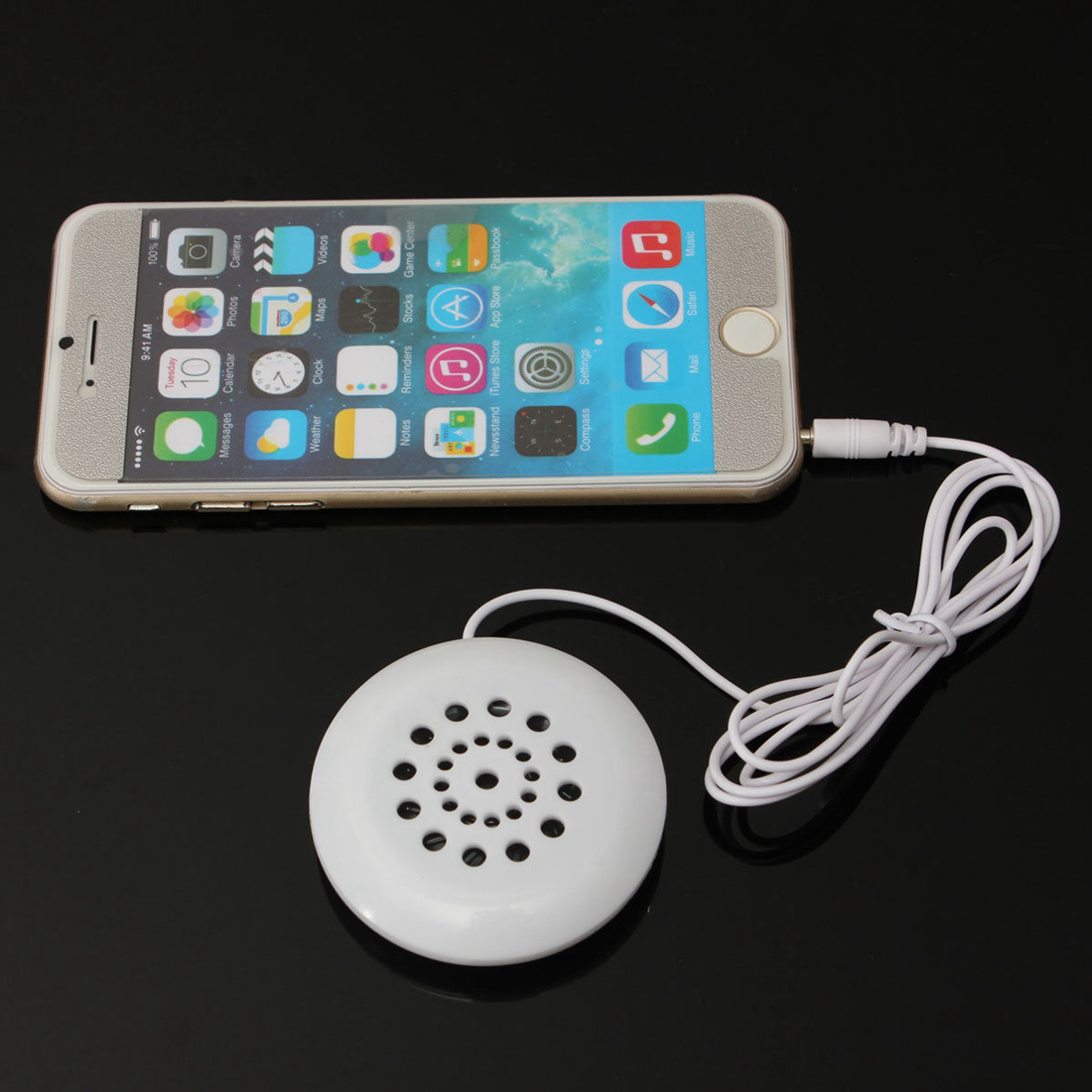 2 X Mini Pillow Speaker for MP3 MP4 Player IPhone IPod Touch Radio 3.5mm Supply