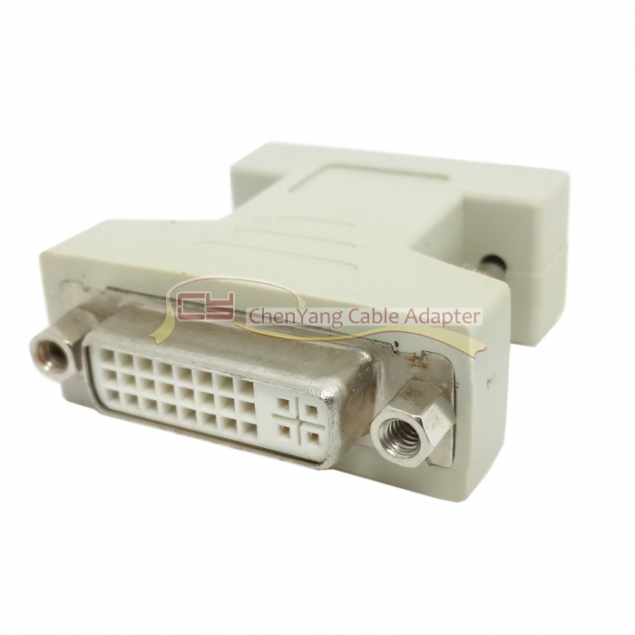 VGA SVGA RGB 15Pin Male to DVI I 24 5 Female adapter Beige for video card