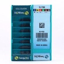 Qualidade original 50 peças tdj2/tdj5/tdj4/tdj3 tt9030/tt8020 cnc carboneto de inserção taegutec sulco torno cnc ferramenta torneamento