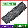 6600 mah batería del ordenador portátil para samsung r505 r509 r510 r560 r60 R610 R65 R70 R700 R710 X360 X460 X60 X65 AA-PB2NC3B AA-PB2NC6B