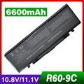6600 mah bateria do portátil para samsung r505 r509 r510 r560 r60 R610 R65 R70 R700 R710 X360 X460 X60 X65 AA-PB2NC3B AA-PB2NC6B