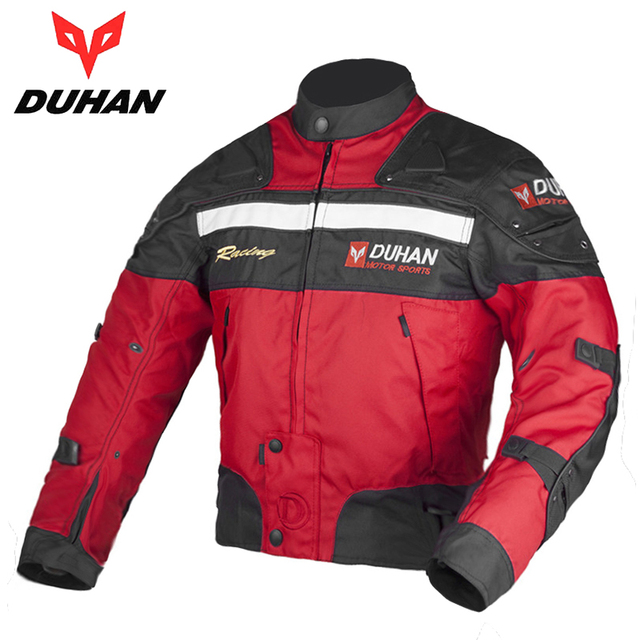 DUHAN Men's Motocross Off-Road Jacket Motorcycle Racing Jacket Windproof Riding Jaqueta Motoqueiro with 5 Protector