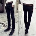 Мужчины брюки хлопчатобумажные повседневные брюки молодых мужчин causual джинсы