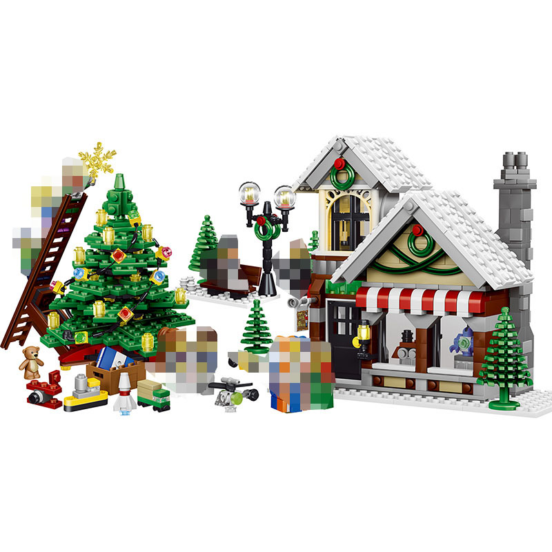 945pcs Building Blocks My World Winter Christmas Hut Toy Store Compatible LegoINGLY Minecrafter House Building Blocks For kids my christmas cd