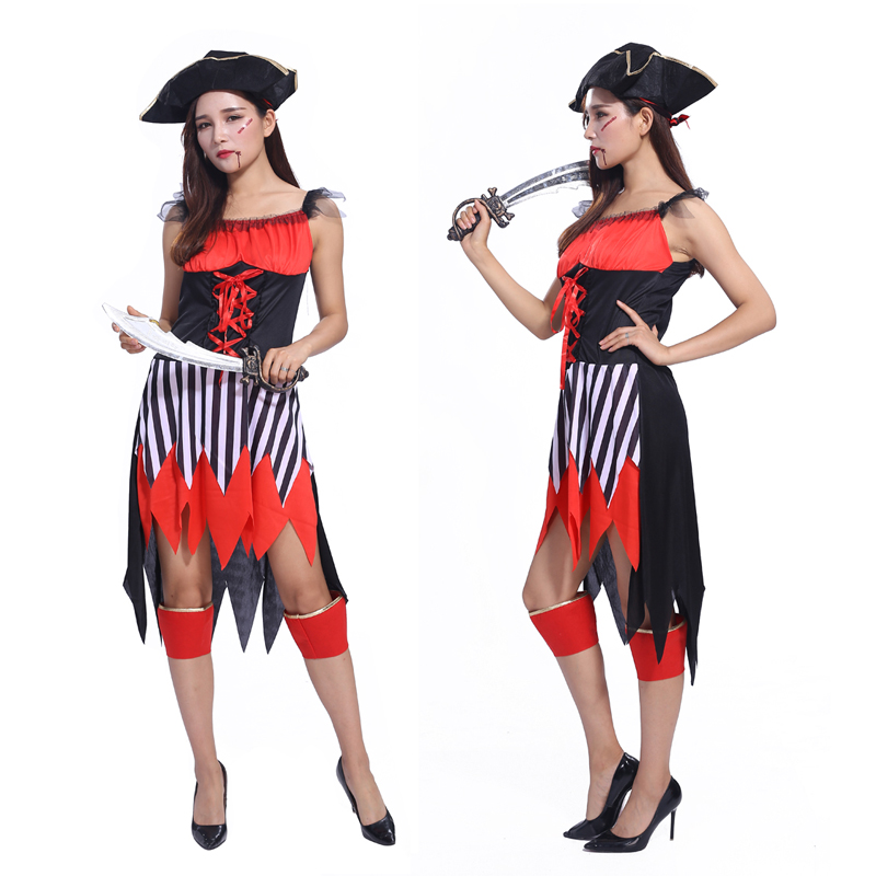 2016 new female pirate Halloween costume party costumes theatrical costumes female Somali pirate costume