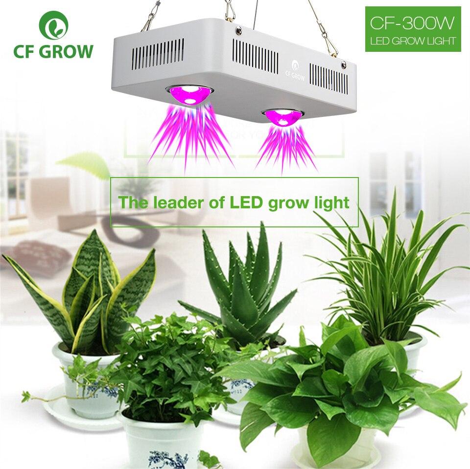 CF расти 300 Вт 600 светодио дный COB растет свет парниковых гидропоники Растениеводство лампы полный спектр заменить НЛО HID расти освещение