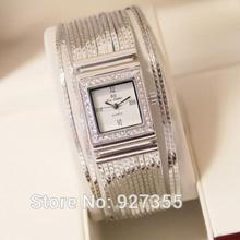 2016 Hot Sales Women Fashion Watches Tassel Lady Dress Watch Square Rose Gold Silver Bracelet Wristwatches Ladies Female Watch