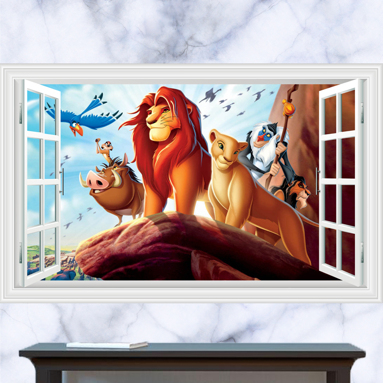 The Lion King Smashed 3D Wall Decal Mural Art Home Decor Sticker