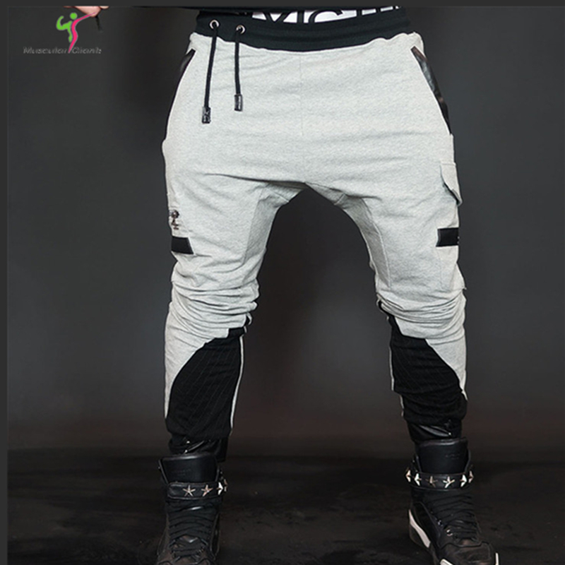 2018 Years Gold Medal Fitness Pants, Elastic Cotton Mens Fitness Pants Engineer Fitness M-2XL