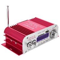 Hi Fi Digital Auto Car Stereo Power Amplifier LED Sound Mode Audio Music Player Support USB MP3 DVD SD MMC FM