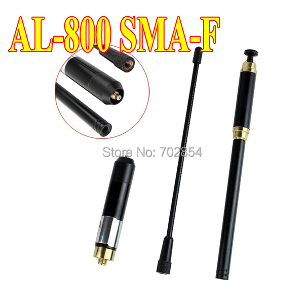 Envío libre AL-800 SMA-F antena 144/430 MHz de Alta Ganancia de la Antena telescópica para UV-5R, ZT-V8A +, UV-B6, KG-UVD1P, TG-UV2