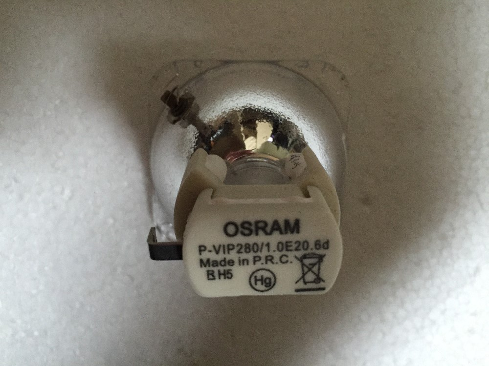 Free shipping ! Original bare Lamp 5J.06W01.001 / OSRAM P-VIP 280/1.0 E20.6 Bulb for BENQ MP723 / MP722 / EP1230 Projectors free shipping osram p vip 240 0 8 e20 9n 5j j7l05 001 5j j9h05 001 original projector bulb one year warranty