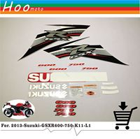 2013 GSXR GSX R 600 750 K11 L1 High Quality Decals Sticker Motorcycle Car styling Stickers for Suzuki Decals Sticker MOTO