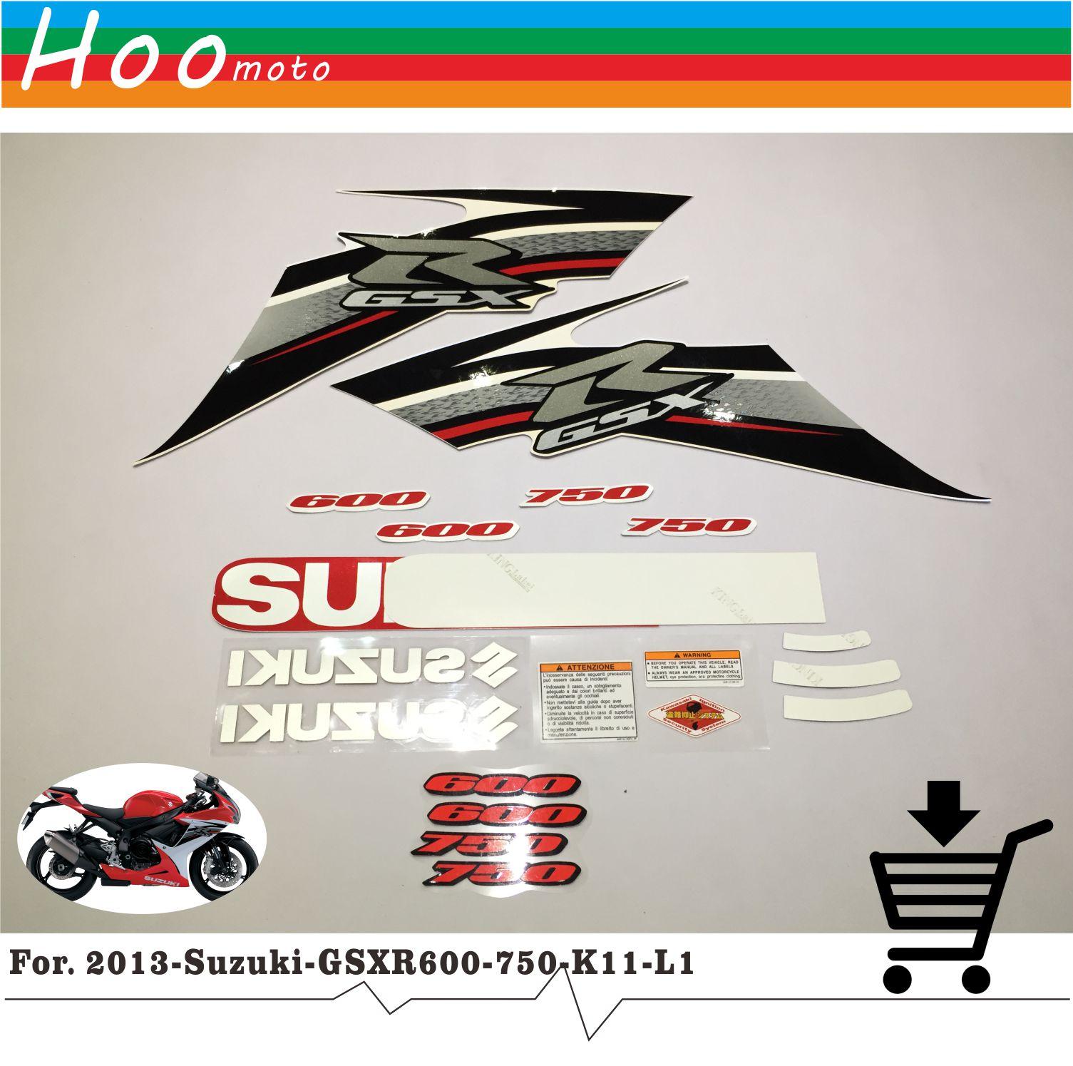 2013 GSXR GSX R 600 750 K11 L1 Высокое качество наклейки Стикеры мотоциклетные автомобиль-Стайлинг Стикеры s для Suzuki наклейки стикеры MOTO