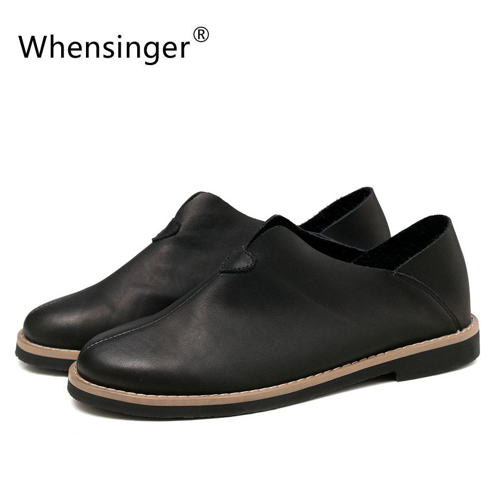 Здесь можно купить   Whensinger - 2017  New Arrival Cow Leather Shoes Slip-On Flats 178 Обувь