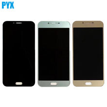OLED For Samsung Galaxy A8 2016 A8100 A810 LCD Display with Touch Screen Digitizer Assembly Black White Gold Free Shiping(China)