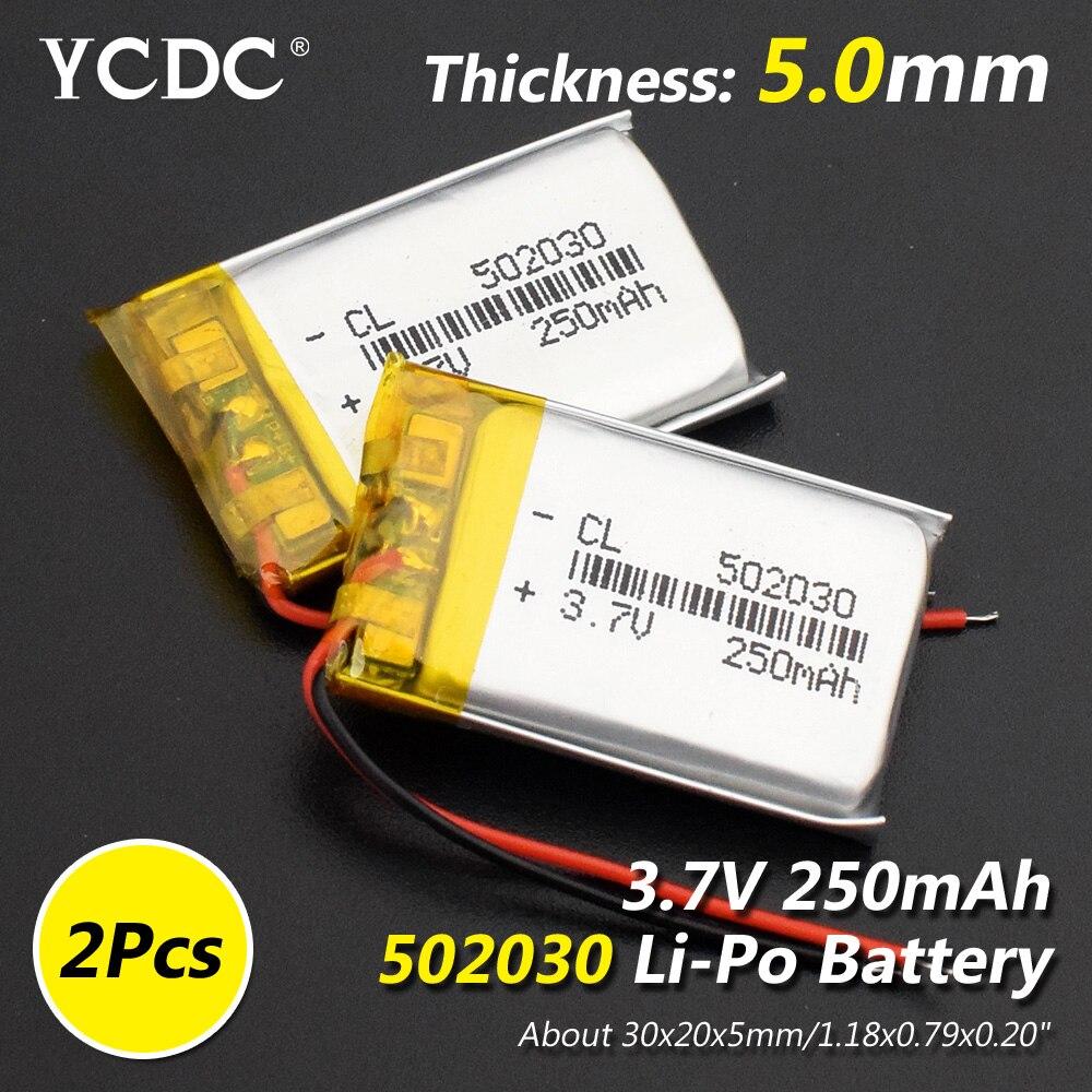Модель 502030 3,7 v 250mAh литий-ионная Lipo ячейка литий-полимерная аккумуляторная батарея для MP3 MP4 Динамик Тахограф Автомобильный видеорегистратор