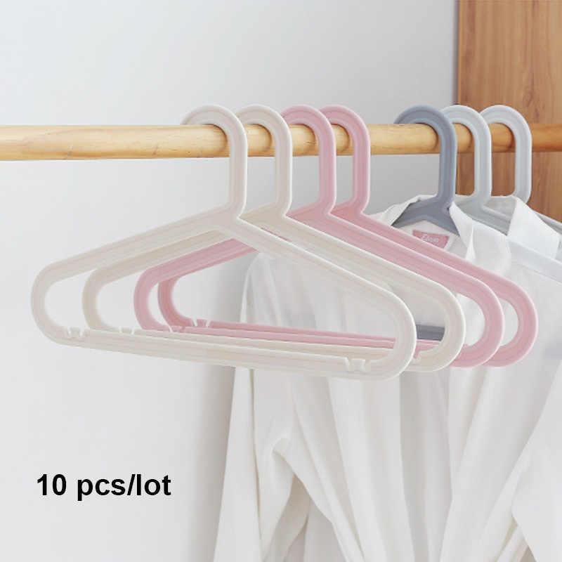 Itnex 10 Stks/partij Volwassen Kleerhangers Voor Jeans Broek Jas Hanger Thuis Opslag Houder Jurk Hanger Dying Rekken Plastic Hanger