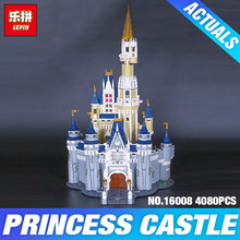 LEPIN 16008  Cinderella Princess Castle City set 4080pcs Model Building Block Kid DIY Toy Funny Birthday Gift  Compatible 71040