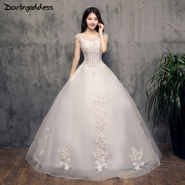 Vestido De Noiva Vintage Lace Wedding Dresses Cap Sleeves Open Back ...