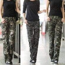Pantalon femme, женская одежда для тренировок, камуфляжные брюки, джинсовые комбинезоны для тренировок, для девушек, повседневные штаны-карго для бега