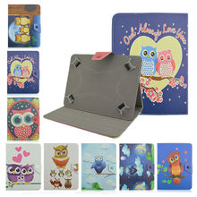 OWL Pattern PU Leather Case Universal 7.0 inch Tablet Stand Cover For Huawei MediaPad 7 Youth 2/X1 7 inch Tablet Case+flim