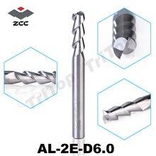 5 шт/лот al 2e d60 zccct торцевая фреза 6 мм высокая эффективность