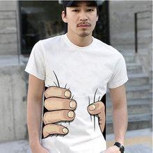 Divertida camiseta de hombre Casual de manga corta impresa para hombre  Camiseta de moda Cool camiseta ab2e5ed2408