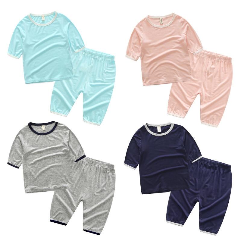 Tz-3587 Children Home Furnishing Serve Suit 2017 Summer Wear Korean New Pattern Male Childrens Garment Jacket Pants Twinset