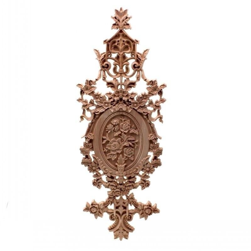 RUNBAZEF Винтаж Домашний Декор цветочный резной деревянный уголок аппликация стены, двери шкафа мебель декоративные фигурки для миниатюрных