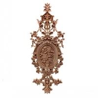 RUNBAZEF Vintage Home Decor Floral Carved Wood Corner Applique Wall Door Cabinet Furniture Decorative Figurines for Miniature