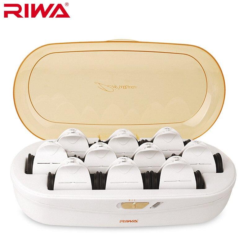 RIWA Riscaldata Clip di capelli temperatura costante non danneggia i capelli a bassa temperatura per lo styling dei capelli Curling Irons Rapido riscaldamento 220 V