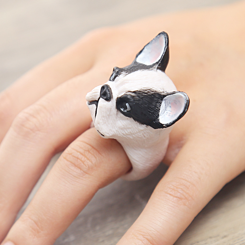 Drop Shipping Vintage Love Dog Ring Animal Sausage Dog Boho Ring Brass Knuckles Rings For Men Women Fine Jewelry