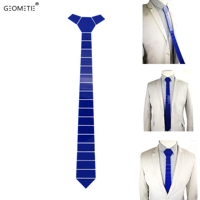 Azul eléctrico Rayas anchas Acrílico Corbatas delgadas Corbatas de - Accesorios para la ropa