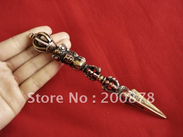 TBP405 Tibetischen metall antiqued Kingkong Dorje, 150 cm, Buddhistische Vajra, Mann amulett kunst