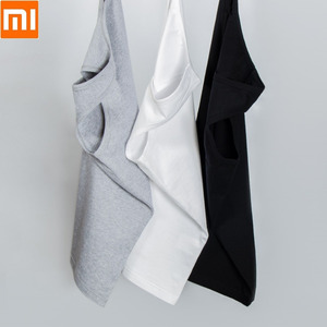 Image 4 - 2pcs/lot Youpin Youpin Cotton Smith Soft Bottoming Vest Soft Comfortable Sleeveless Vest for Men Indoor or Outdoor