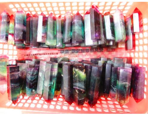 선물로 1000g 고품질 100 % 자연적인 다채로운 형석 수정 결정 지팡이 점 치료