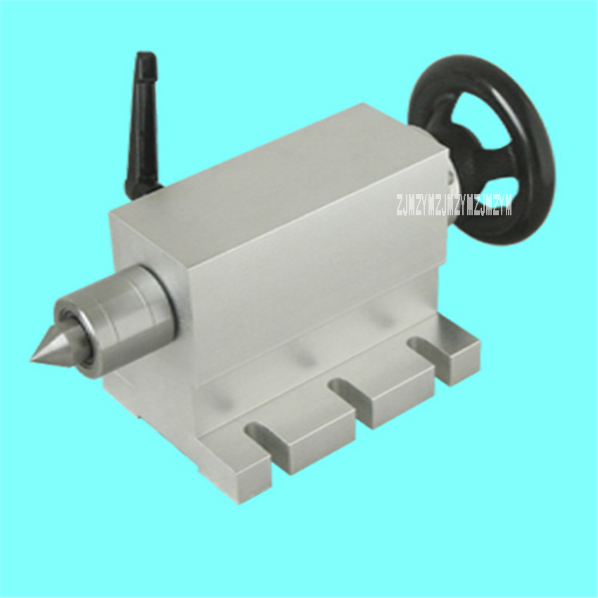 Woodworking Machinery Parts Engraving Machine Fourth Axis Activity CNC Tailstock Rotation Axis A Axis Part Center Height 65MM