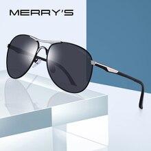 MERRY'S Aluminum Polarized Sunglasses Men Classic Brand Designer driving Eyewear Pilot sunglass S'8712