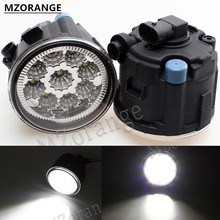 лучшая цена MZORANGE 9W 6000K led Car fog lights For NISSAN TIIDA 2007-2009 2010 2011 SC11X CUBE Quest 2006-2012 fog light E2 12V DRL lamp