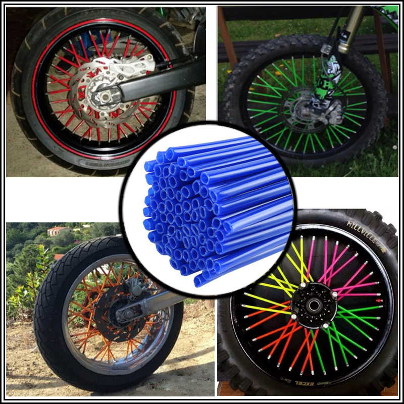 For Universal Motocross SPOKE SKINS Wheel RIM SPOKE COVERS XR650L CRF230L CRF230M XL1000 1000 2000  AFRICA TWIN750-1 750 RD04 9 skins skins dnamic