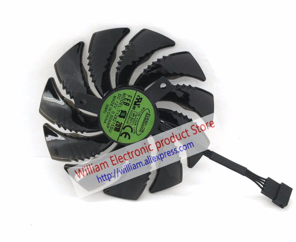 New Original for Gigabyte GTX 1070 GTX 1060 WINDFORCE OC 8G Graphics card cooling fan T129215SU DC12V 0.50A