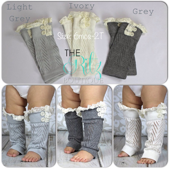Hot Sale Girls Kids Baby Lace Leg Crochet Pattern Boot Cuffs Knit