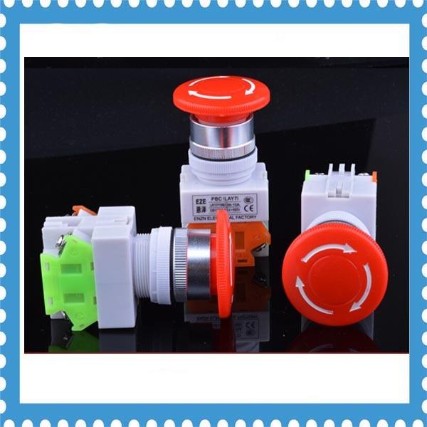 10pcs YO90 LAY37-11ZS emergency stop knob push button switch no-lock reset rotary swtich