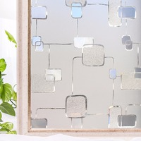 CottonColors Window Cover Films Premium No-Glue 3D Static Decorative Privacy Window Glass Sticker 3Ft X 6.5Ft.(90 x 200cm)