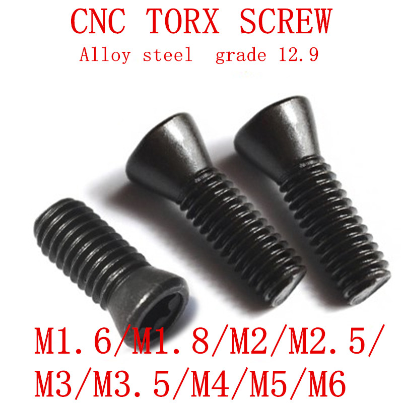 50PCS M1.6 M1.8 m2 m2.2 M2.5 M3 M3.5 M4 M5 M6*L Grade 12.9 Insert Torx Screw Replaces Carbide Inserts CNC Accessories Lathe TooL50PCS M1.6 M1.8 m2 m2.2 M2.5 M3 M3.5 M4 M5 M6*L Grade 12.9 Insert Torx Screw Replaces Carbide Inserts CNC Accessories Lathe TooL