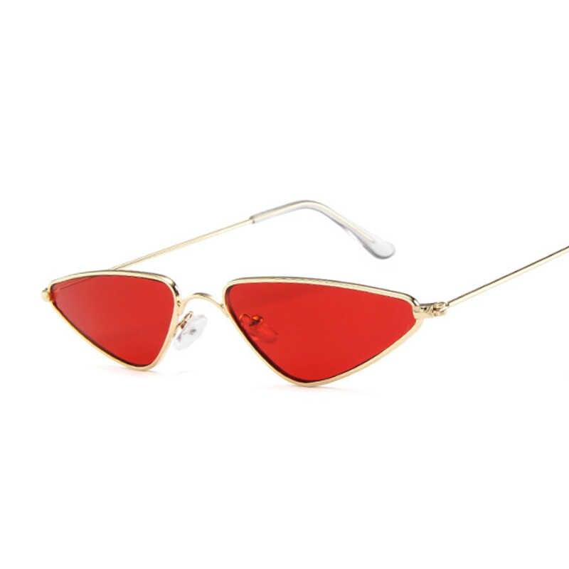 2020 Merah Muda Wanita Kucing Mata Kacamata Hitam Lucu Seksi Merek Desainer Musim Panas Retro Bingkai Kecil Hitam Merah Kucing Mata Kacamata Matahari