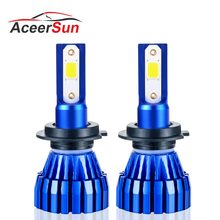Aceersun 2Pcs 9005 HB3 9006 HB4 H11 H4 H7 Led H1 Auto Car Headlight 72W 8000LM 6500K Automobile Bulb COB CHIP 4300k H3 Fanless(China)