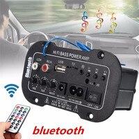 5 Inch Multi Functional Card Digital Bluetooth Home Car Amplifier Car Bluetooth HiFi Bass Power AMP